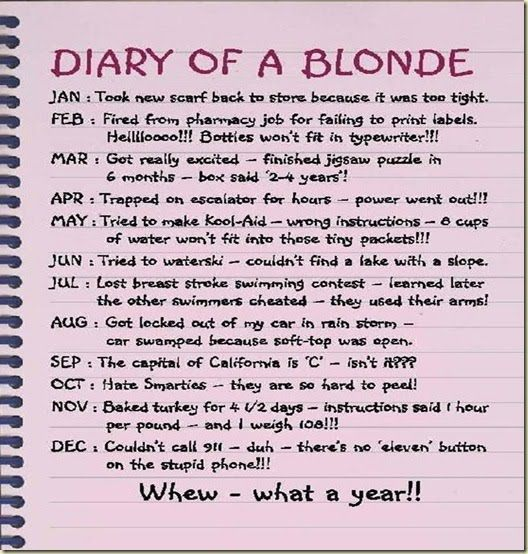 Blonde Jokes 2012 – Quotes of the Day